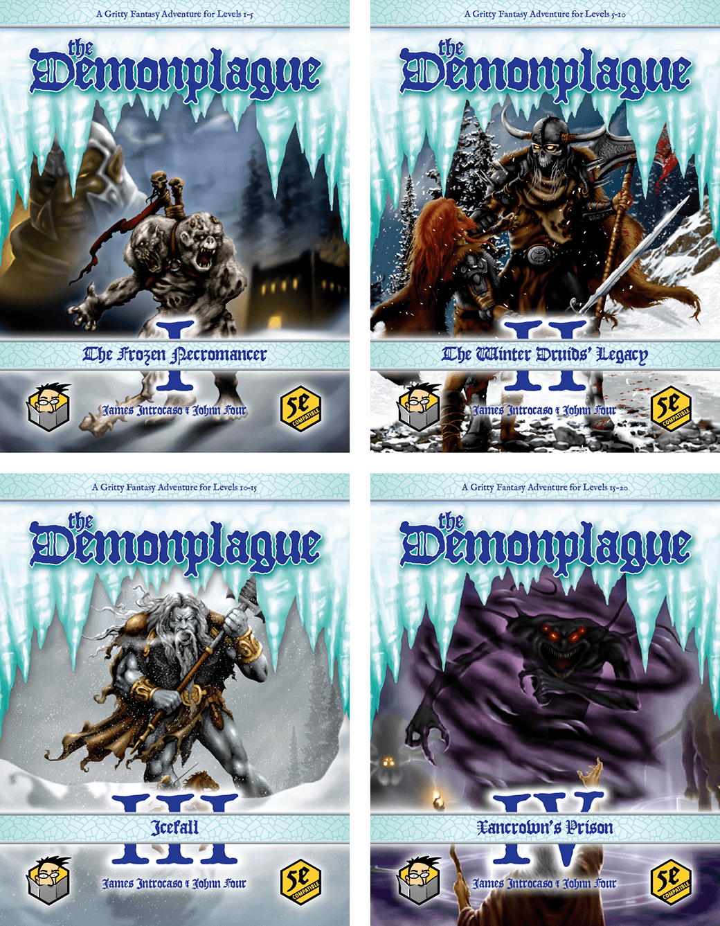 The Demonplague D&D 5E Adventure Campaign Book Covers