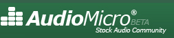 Royalty free music - AudioMicro logo