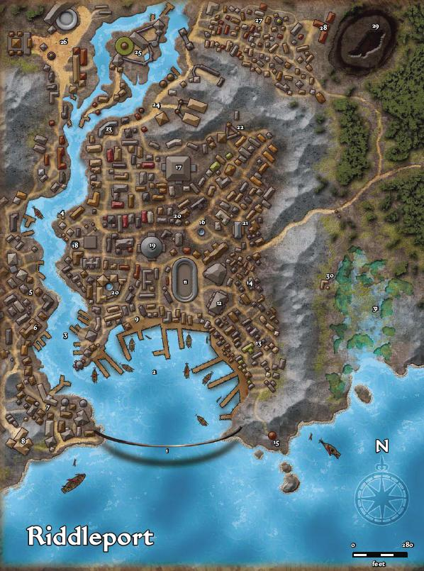 Riddleport Map