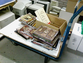 The RPG Club's Materials Cart.