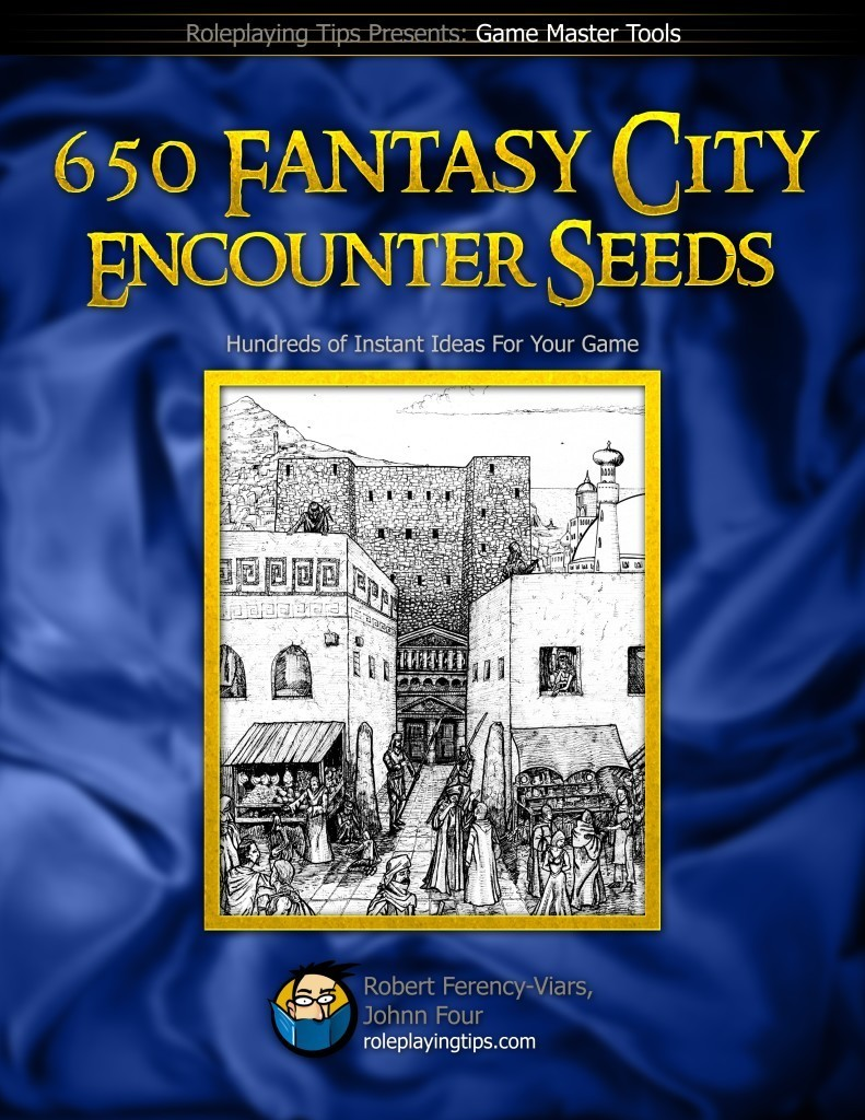 650 Fantasy City Encounter Hooks book cover