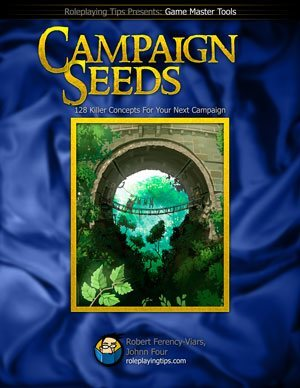 Get your plot ideas here: the Campaign Seeds book