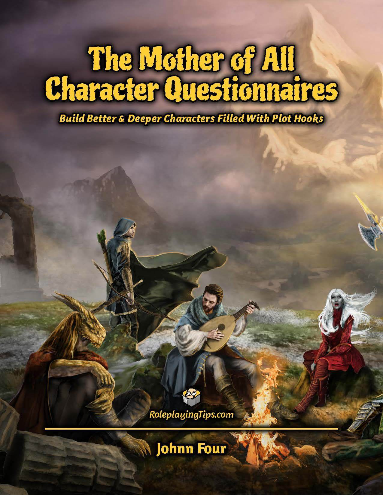 Cover of the D&D Character Questionnaire PDF