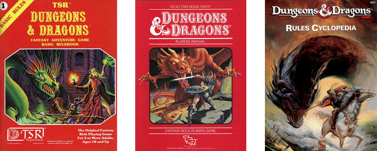 Basic Dungeons & Dragons Book Covers
