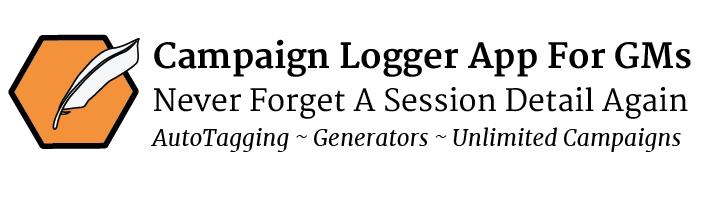 Campaign Logger game master organization app for RPG